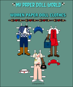 paper doll african american woman clothing set 6 download