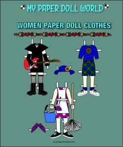 paper doll white woman clothing set 2 download