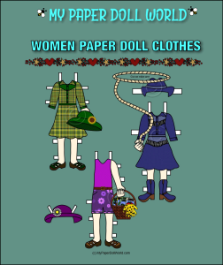 paper doll white woman clothing set 7 download