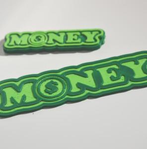money - m($)ney : dual color 3d printable badge-decal-sticker