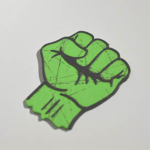Socialist Fist : Dual Color 3D Printable Badge-Decal-Sticker | Other Files | Patterns and Templates