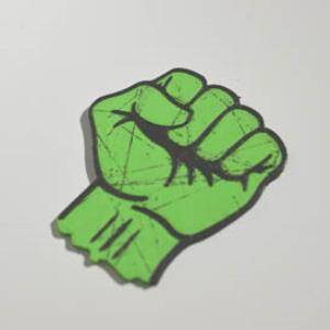 socialist fist : dual color 3d printable badge-decal-sticker