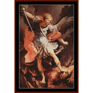 st. michael the archangel - guido reni cross stitch pattern by cross stitch collectibles