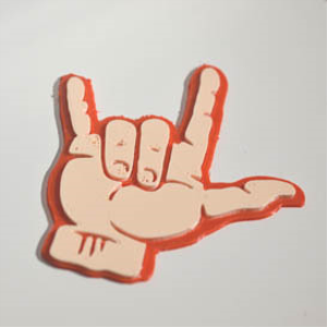 ily-signlanguage : dual color 3d printable badge-decal-sticker