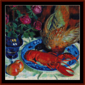 Still Life with Pheasant - Kustodiev cross stitch pattern by Cross Stitch Collectibles | Crafting | Cross-Stitch | Wall Hangings