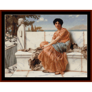 In the Days of Sappho, 1904 - Godward cross stitch pattern by Cross Stitch Collectibles | Crafting | Cross-Stitch | Wall Hangings