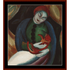 Girl with Cat, 1912 - Franz Marc cross stitch pattern by Cross Stitch Collectibles | Crafting | Cross-Stitch | Wall Hangings