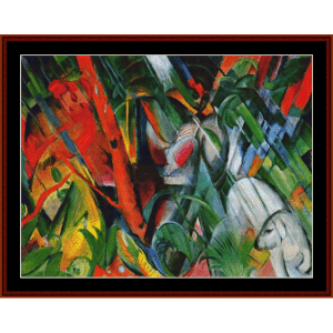In the Rain, 1912 - Franz Marc cross stitch pattern by Cross Stitch Collectibles | Crafting | Cross-Stitch | Wall Hangings