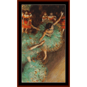 the green dancer, 1879 - degas cross stitch pattern by cross stitch collectibles