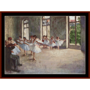 the rehearsal - degas cross stitch pattern by cross stitch collectibles