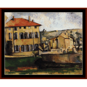 House and Farm at Jas de Bouffan - Cezanne cross stitch pattern by Cross Stitch Collectibles | Crafting | Cross-Stitch | Other