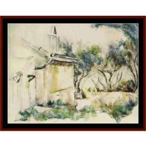 Jourdan's Cottage, 1906 - Cezanne cross stitch pattern by Cross Stitch Collectibles | Crafting | Cross-Stitch | Wall Hangings
