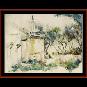 jourdan's cottage, 1906 - cezanne cross stitch pattern by cross stitch collectibles