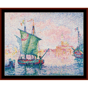 the pink cloud, 1909 - signac cross stitch pattern by cross stitch collectibles