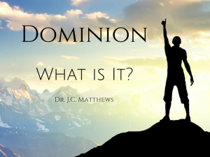 Dominion: What is it? | Other Files | Presentations