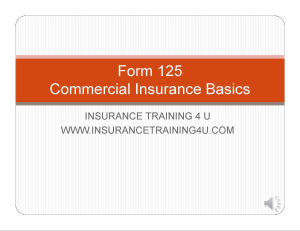 commercial basics form 125