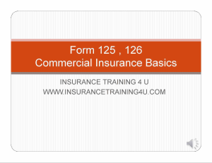 Forms 125 & 126 Basics | Movies and Videos | Training