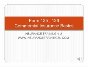 forms 125 & 126 basics