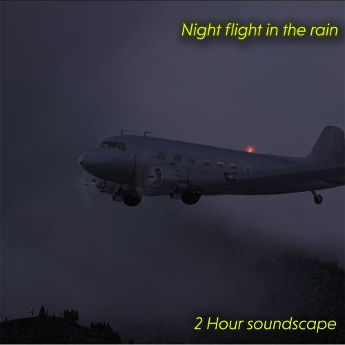 First Additional product image for - Night flight in the rain