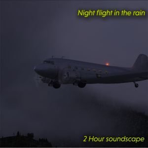 night flight in the rain
