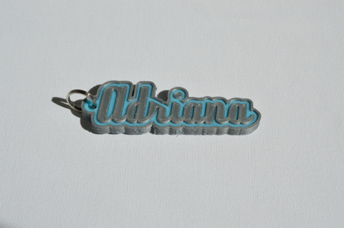 First Additional product image for - Adriana Single & Dual Color 3D Printable Keychain-Badge-Stamp