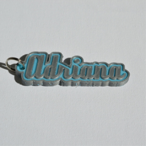 Adriana Single & Dual Color 3D Printable Keychain-Badge-Stamp | Other Files | Patterns and Templates
