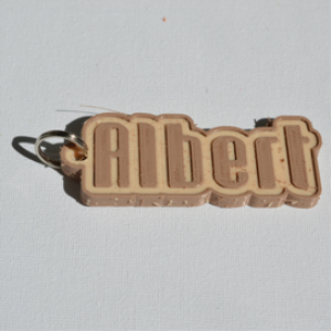 albert single & dual color 3d printable keychain-badge-stamp