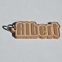 Albert Single & Dual Color 3D Printable Keychain-Badge-Stamp | Documents and Forms | Other Forms