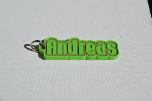 First Additional product image for - Andreas Single & Dual Color 3D Printable Keychain-Badge-Stamp