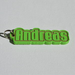 Andreas Single & Dual Color 3D Printable Keychain-Badge-Stamp | Other Files | Patterns and Templates