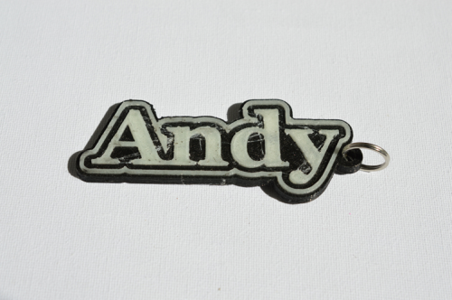 First Additional product image for - Andy Single & Dual Color 3D Printable Keychain-Badge-Stamp