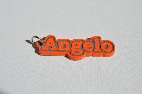 First Additional product image for - Angelo Single & Dual Color 3D Printable Keychain-Badge-Stamp