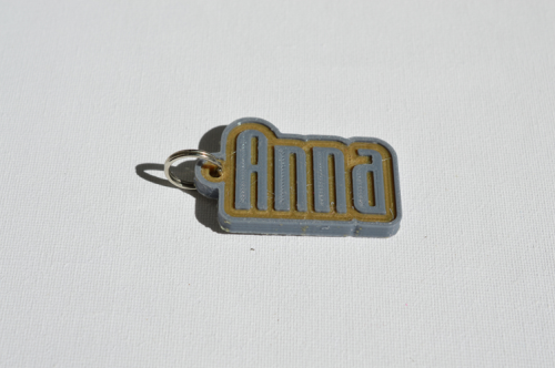 First Additional product image for - Anna Single & Dual Color 3D Printable Keychain-Badge-Stamp