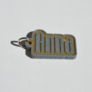 Anna Single & Dual Color 3D Printable Keychain-Badge-Stamp | Other Files | Graphics