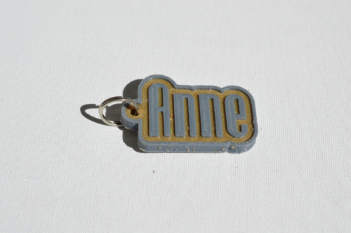 First Additional product image for - Anne Single & Dual Color 3D Printable Keychain-Badge-Stamp
