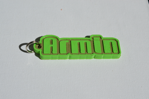First Additional product image for - Armin Single & Dual Color 3D Printable Keychain-Badge-Stamp