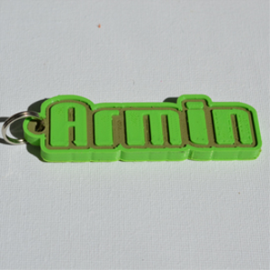 armin single & dual color 3d printable keychain-badge-stamp