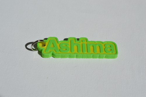 First Additional product image for - Ashima Single & Dual Color 3D Printable Keychain-Badge-Stamp