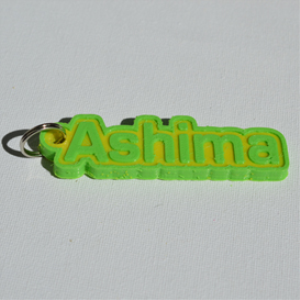 Ashima Single & Dual Color 3D Printable Keychain-Badge-Stamp | Crafting | Jewelry
