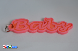 babs dual color keychain-badge-stamp