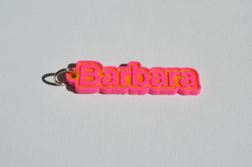 First Additional product image for - Barbara Single & Dual Color 3D Printable Keychain-Badge-Stamp