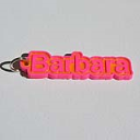 Barbara Single & Dual Color 3D Printable Keychain-Badge-Stamp | Documents and Forms | Other Forms