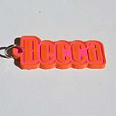 Becca Single & Dual Color 3D Printable Keychain-Badge-Stamp | Other Files | Fonts