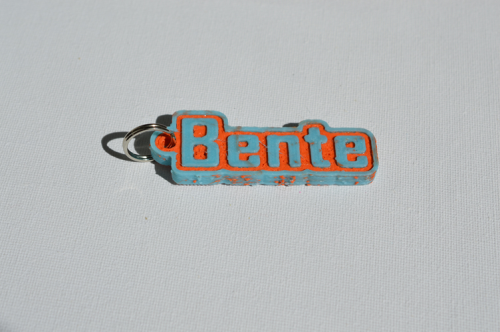 First Additional product image for - Bente Single & Dual Color 3D Printable Keychain-Badge-Stamp