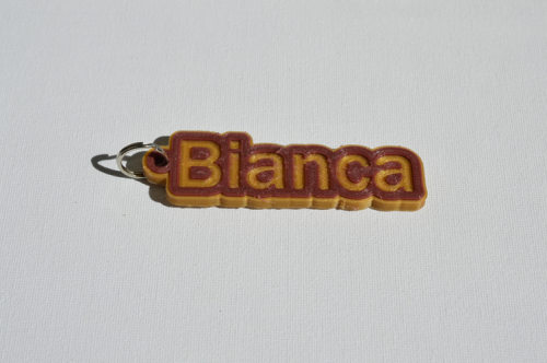 First Additional product image for - Bianca Single & Dual Color 3D Printable Keychain-Badge-Stamp