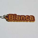 Bianca Single & Dual Color 3D Printable Keychain-Badge-Stamp | Other Files | Graphics