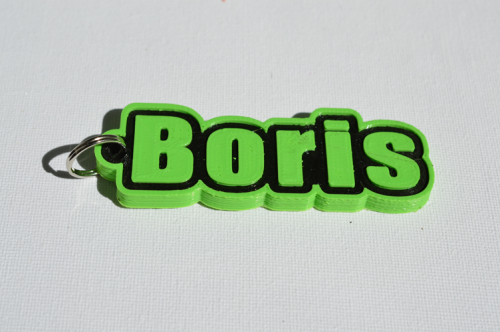 First Additional product image for - Boris Single & Dual Color 3D Printable Keychain-Badge-Stamp