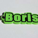 Boris Single & Dual Color 3D Printable Keychain-Badge-Stamp | Other Files | Patterns and Templates
