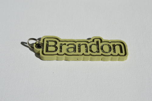 First Additional product image for - Brandon Single & Dual Color 3D Printable Keychain-Badge-Stamp