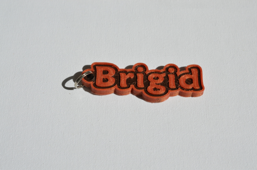 First Additional product image for - Bridgid Single & Dual Color 3D Printable Keychain-Badge-Stamp